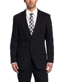 Kenneth Cole New York Mens Black Solid Suit Separate Coat