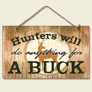 Decorative Wood Sign A Buck