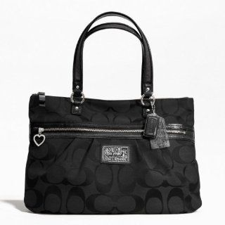 Coach Signature Hamptons Stripe Carryall Bag Purse Tote 19357 Shoes