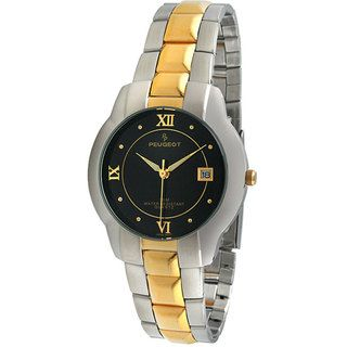 Peugeot Mens Two tone Round Bracelet Watch