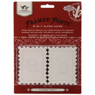 Framed Fonts Travel and Postage Stamp 3 in 1 Alpha Chips (Pack of 108)