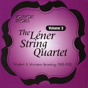 The Lener String Quartet Volume 3   Schubert Octet in F Major Op. 166