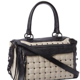 Rebecca Minkoff Mab Mini Studded Linen H403M370 Shoulder Bag