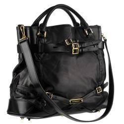 Burberry Black Landscape Bridle Leather Tote