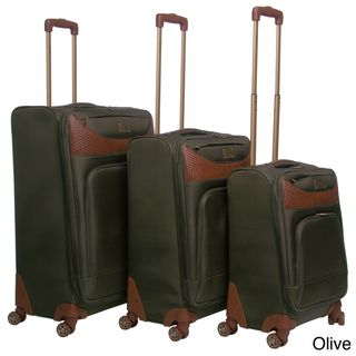 Caribbean Joe Castaway 3 piece Spinner Luggage Set