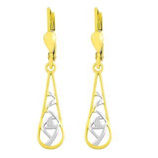Fremada 14k Two tone Gold Teardrop Dangle Earrings Today $159.99 4.7