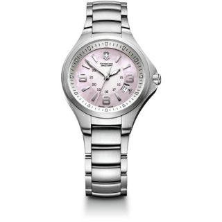 Swiss Army Womens Base Camp Pink Mother of Pearl Dial Watch