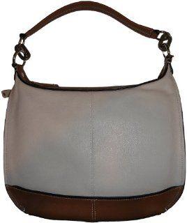 Leather Purse Handbag Color Me Classy Hobo Sand/Cognac Shoes