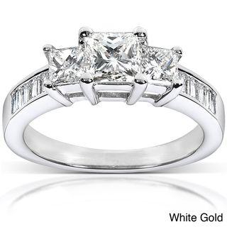 14k Gold 1 1/2ct TDW Princess Diamond Engagement Ring