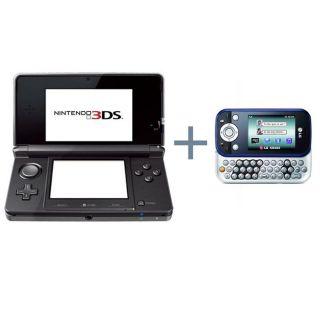 Console NINTENDO 3DS Noire COSMOS + LG KS365 Bleu   Achat / Vente PACK