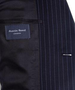 Austin Reed London Mens Navy Pinstripe Wool Suit