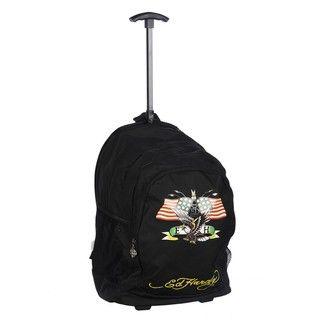 Ed Hardy Brad American Eagle 17 inch Rolling Backpack