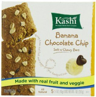 Kashi Chocolate Chip Chewy Snack Bar, Banana, 7 Ounce (Pack of 4