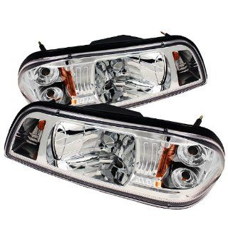 SPYDER Ford Mustang 87 93 1PC Crystal Headlights   Chrome /1 pair
