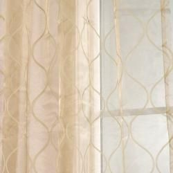 Signature Palazzo Gold 108 inch Banded Sheer Curtains
