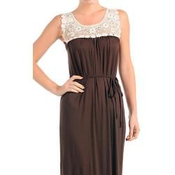 Stanzino Womens Brown Maxi Evening Dress