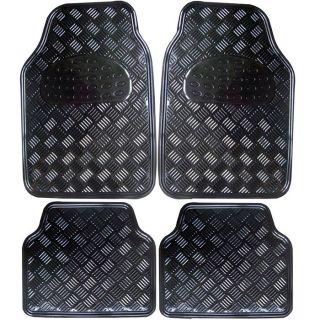 Jeu de 4 tapis PVC look plaqué noir   Achat / Vente TAPIS DE SOL Jeu