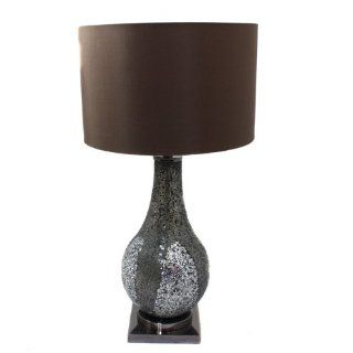 Casa Cortes Mosaic Glass Mirror 31 Table Lamp   Silver