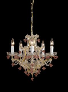 Theresa 5 light Polished Brass Chandelier Today $225.99
