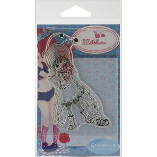 Stampavie Anne Cresci Clear Stamp Lilou Abeille 4 inches