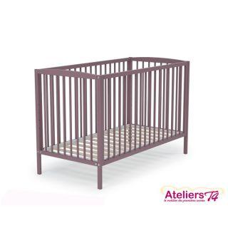 AT4 Lit bébé Violet 03   60x120cm   Achat / Vente LIT NON PLIANT