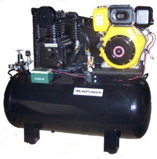 , 10 Hp Diesel Engine, 32 CFM, 175 PSI, Electic Start