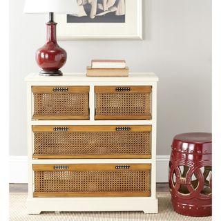 York 4 drawer White Storage Cabinet