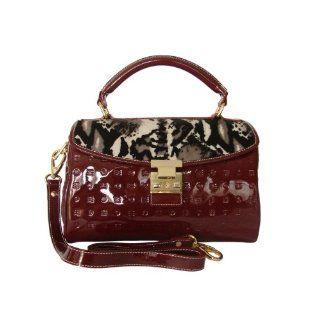 Arcadia Patent Leather Purse Handbag Tote Salmon Natural Shoes