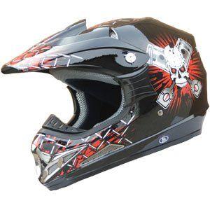 Adult DOT Helmet 180 Red/Black Size XLarge