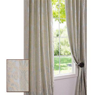 Mayfair Light Blue 118 inch Cotton Damask Curtain Panel