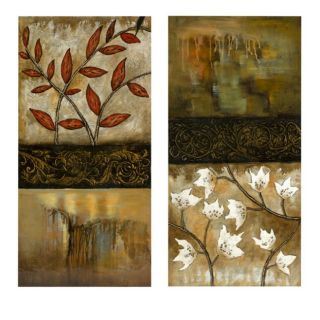 Set of 2 Renewal Oil on Canvas Wall Art