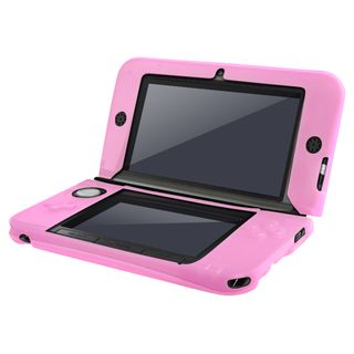 BasAcc Pink Silicone Case for Nintendo 3DS XL