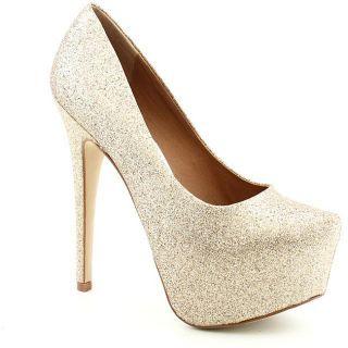 Steve Madden Womens Dejavu Gold Dress Shoes