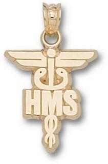 Harvard Medical School HMS Caduceus Pendant   14KT Gold