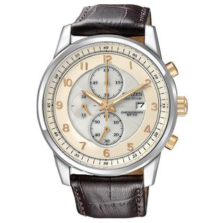 Citizen Mens Stainless Steel Eco Drive Chronograph Watch