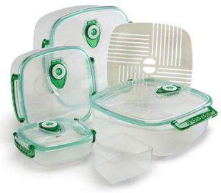 FreshVac Plus FV404TC Set of 4 Square Shaped Vacuum Food