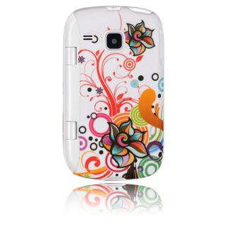 Luxmo Autumn Flower Rubber Coated Case for Samsung DoubleTime/ I857