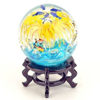 Murano Paperweight Centerpiece Beautiful Aquarium School