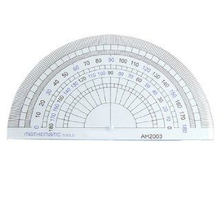 Amico Stationery Plastic 180 Degree Protractor Measuring