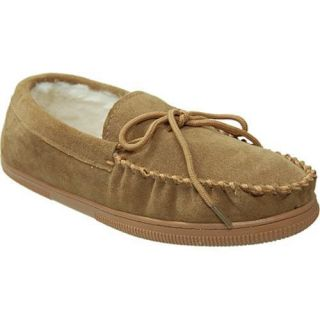 Mens Boston Traveler Faux Suede Mocassin Slippers Hickory