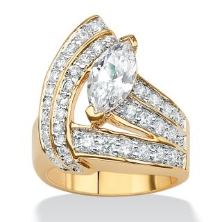 Ultimate CZ 14k Gold plated 3ct Cubic Zirconia Wrap Ring MSRP $93.00