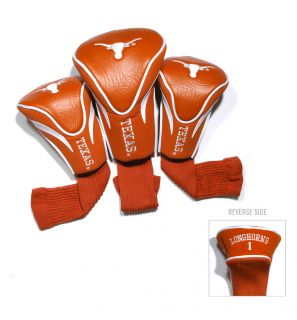 Texas Longhorns NCAA Contour Wood Headcover Set