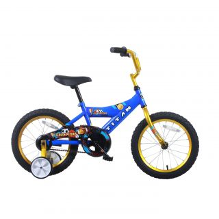 Titan Champion 16 inch Blue/ Gold Boys BMX Bike Today $99.99