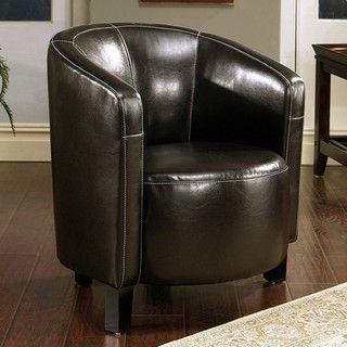 Manhattan Brown Bonded Leather Club Chair