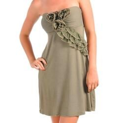 Stanzino Womens Olive Casual Party Dress