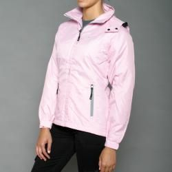 First Down Womens Pink Hooded Tech Jacket