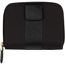 Prada French Black Nylon Bi fold Wallet