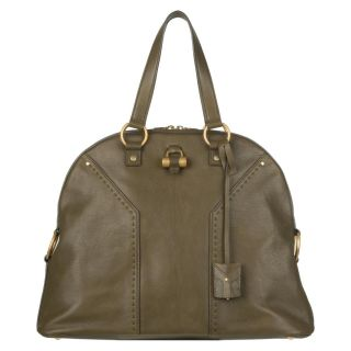 Yves Saint Laurent Green Leather Tote Bag