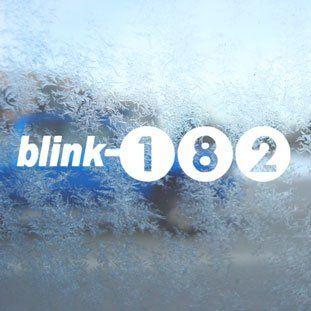 Blink 182 White Decal Punk Rock Band Laptop Window White
