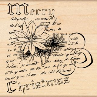 Penny Black Christmas Narrative Wood mounted Rubber Stamp